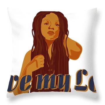 Love My Locs Throw Pillow