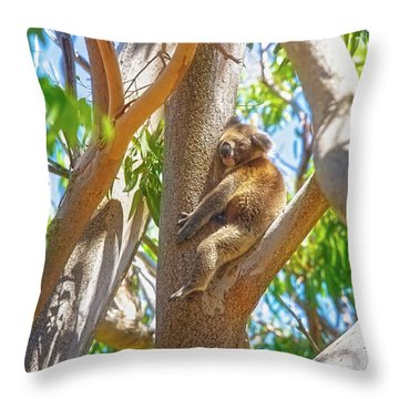 Love My Tree, Yanchep National Park Throw Pillow by Dave Catley