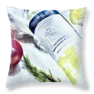 Love My Wine Throw Pillow