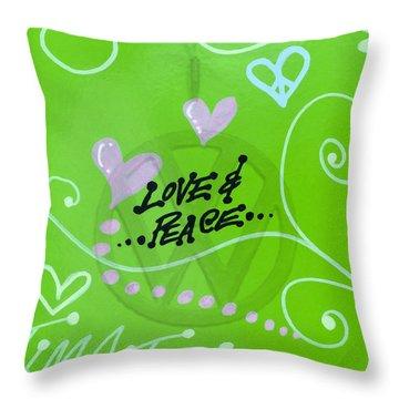 Love N Peace Time Traveller Throw Pillow