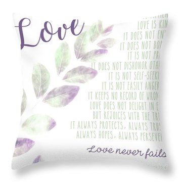 Throw Pillow featuring the photograph Love Never Fails by Andrea Anderegg