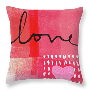 Love Notes- Art By Linda Woods Throw Pillow
