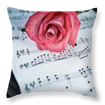 Love Notes Throw Pillow