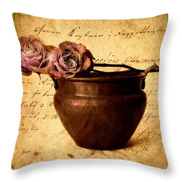 Love Notes Throw Pillow by Jessica Jenney