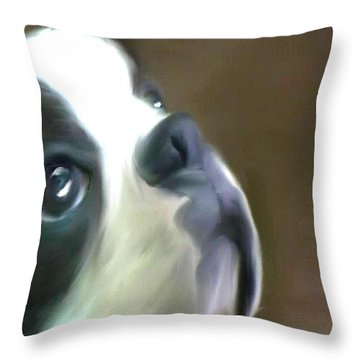 Love Of A Boston Throw Pillow