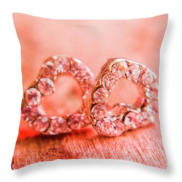 Love Of Crystals Throw Pillow
