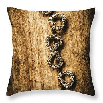 Love Of Rustic Jewellery Throw Pillow