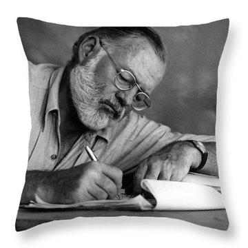 Love Of Writing - Ernest Hemingway Throw Pillow