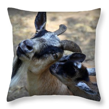 Love On A Farm Throw Pillow by Karen Wiles