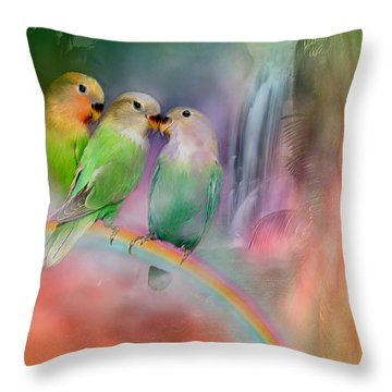 Love On A Rainbow Throw Pillow