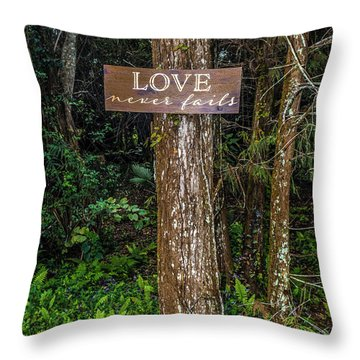 Love On A Tree Throw Pillow