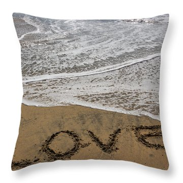 Love On The Beach Throw Pillow by Heidi Smith