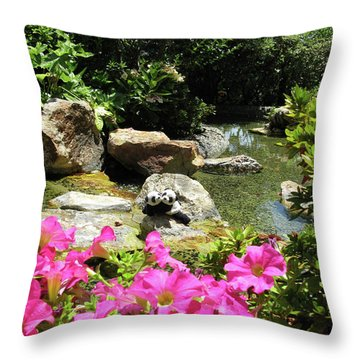 Throw Pillow featuring the photograph Love On The Rocks- Los Angeles- Pandas by Ausra Huntington nee Paulauskaite