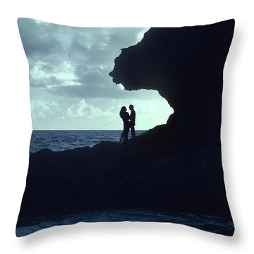Love On The Rocks Throw Pillow