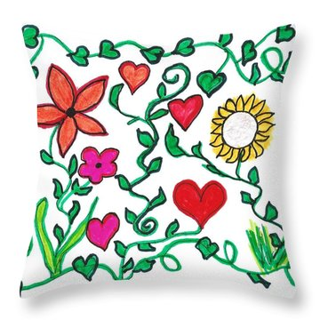 Love On The Vine Throw Pillow