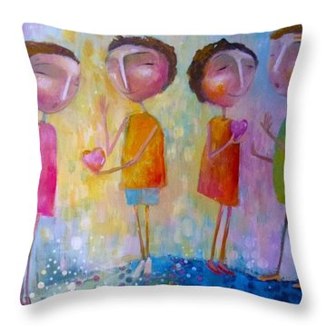 Love One Another Throw Pillow by Eleatta Diver