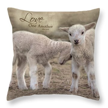 Throw Pillow featuring the photograph Love One Another by Robin-Lee Vieira