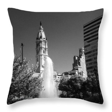 Love Park Over Looking City Hall Throw Pillow