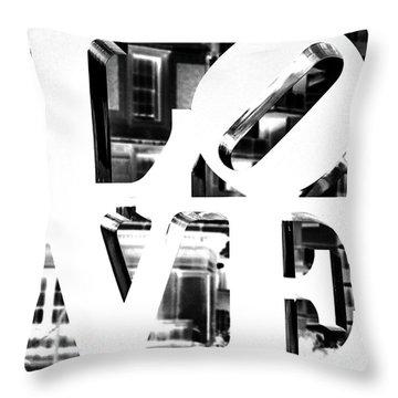 Love Philadelphia White  Throw Pillow