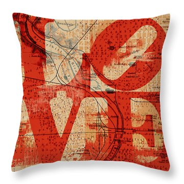 Philly Love V2 Throw Pillow