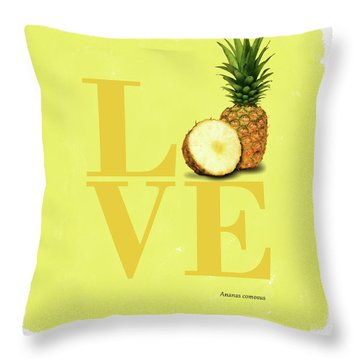 Love Pineapple Throw Pillow