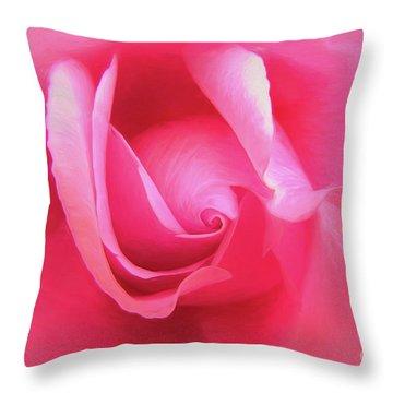 Love Pink Throw Pillow