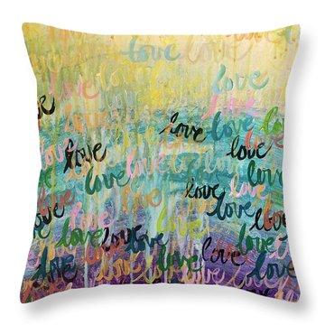 Love Reigns Throw Pillow