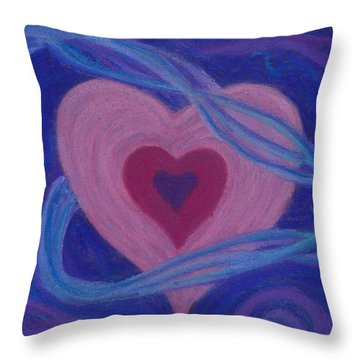 Love Ribbons Throw Pillow