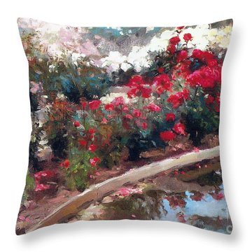 Throw Pillow featuring the painting Love by Rosario Piazza