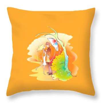 Love Shower T-shirt Throw Pillow by Herb Strobino
