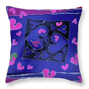 Love Soul Love Skeloton And The Subject Of Life Throw Pillow