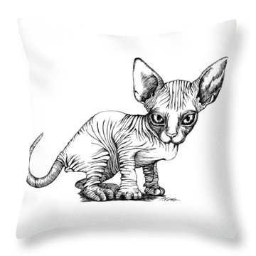 Love Sphynx Throw Pillow