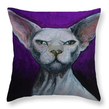 Love Sphynx Cat Throw Pillow