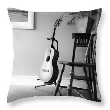 Love Strings Throw Pillow