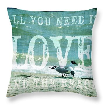 Throw Pillow featuring the photograph Love The Beach by Jan Amiss Photography