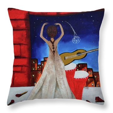 Love To Dance 002 By Saribelle Rodriguez Throw Pillow by Saribelle Rodriguez