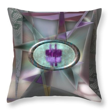 Love Triangles 2 Throw Pillow by Warren Furman