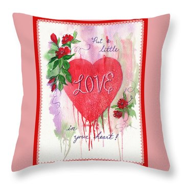 Throw Pillow featuring the painting Love Valentine by Marilyn Smith
