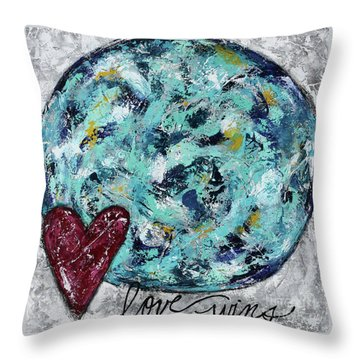 Love Wins Throw Pillow by Kirsten Reed
