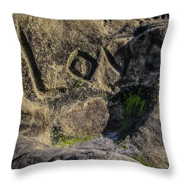 Love Written In Stone Throw Pillow
