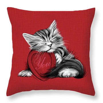 Love You Throw Pillow by Cindy Anderson