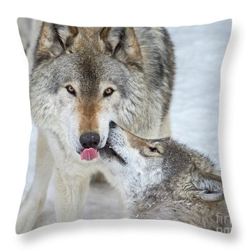 Throw Pillow featuring the photograph Love You Dad.. by Nina Stavlund