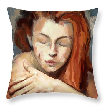 Love Yourself Throw Pillow by Carrie Joy Byrnes