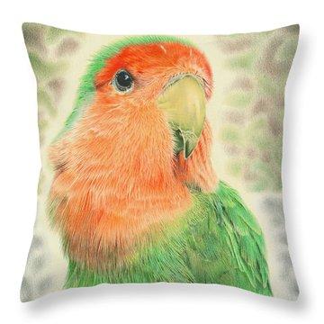 Lovebird Pilaf Throw Pillow