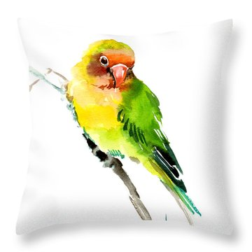 Lovebird Throw Pillow