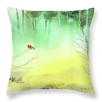Lovebirds 3 Throw Pillow