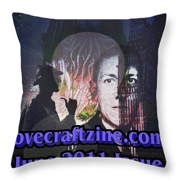 Lovecraftzine Coverpage June Throw Pillow