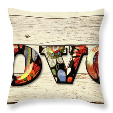 Loved Flowers 2 Throw Pillow