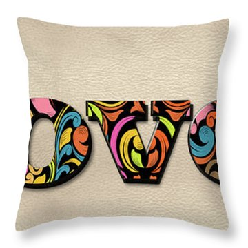 Loved Flowers Throw Pillow