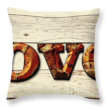 Loved Paisley Throw Pillow
